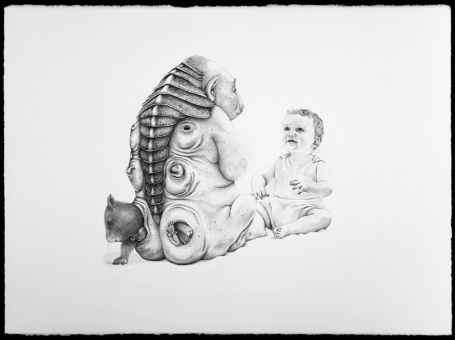 Patricia Piccinini With Her Work Babies